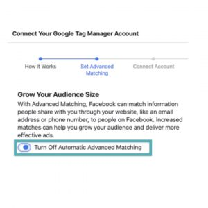 Business manager facebook pixel skru av advanced matching